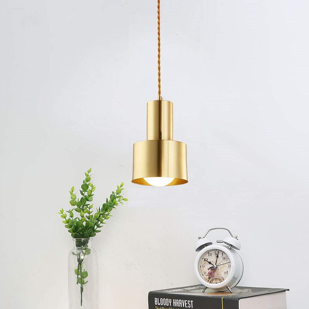 LL Chandelier Brushed Brass Single Head Pendant Light Nordic Creative Restaurant Lighting
