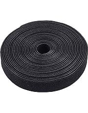 Meister klittenband rol - 20 mm breed - zwart - hersluitbaar - vrij op maat te snijden - stabiel & waterdicht/klittenband kabelbinders op rol/dubbelzijdig klittenband
