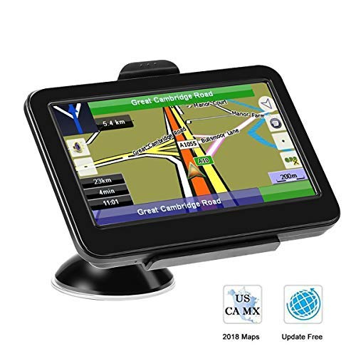 GPS Navigation for Car, Prymax 5 Inch GPS Navigator Touchscreen Car GPS Navigation System with 8GB Memory, Lifetime Map Update, Driving Alarm, Voice Steering