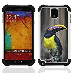 King Case - tucan bird yellow ornithology species - Cubierta de la caja protectora completa h???¡¯???€????€?????brido Body Armor Protecci?