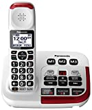 Panasonic KX-TGM420W Amplified Cordless Phone with Digital Answering Machine, 1 Handset, White