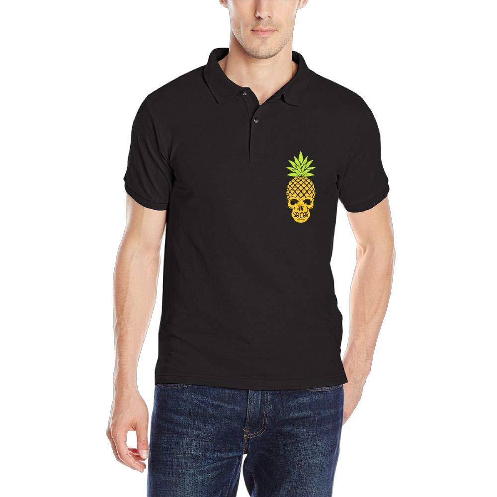 DAD97KHG Pine Skull Mens Short-Sleeve Polo Shirts