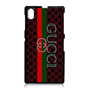 Gucci Logo Mobile Phone Case Cover Snap On Sony Xperia Z1 Classical Series Fashion Luxury Gucci Phone Case GUCCI Logo Design