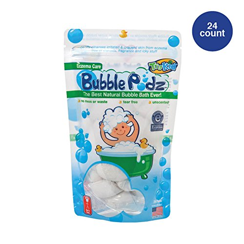 (TruKid Eczema Bubble Podz, Natural Bubble Bath with Oatmeal, Aloe & Vit E., Unscented, 24 count)