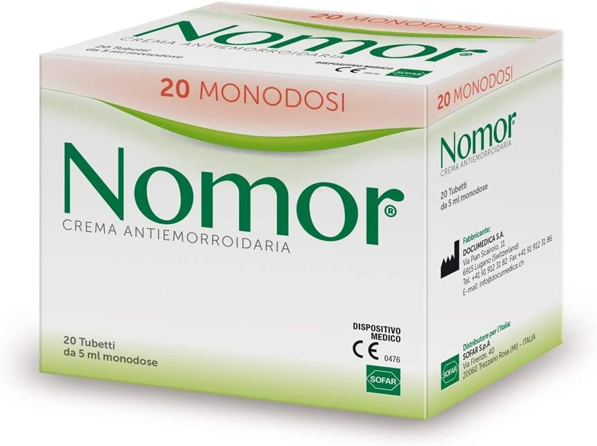 Sofar Nomor Crema Antiemorroidaria 20 Tubetti Monodose Da 5ml Amazon Co Uk Health Personal Care