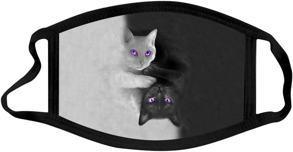 Schön Lustig Schwarz Weiß Katze Bedruckt Mund Nasenschutz Mundschutz Waschbar Für Camping Laufen Radfahren Bequem Multifunktional Unisex Adult Sport Freizeit