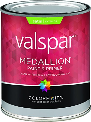 Valspar 1 Quart Satin (Medallion 27-4108 QT 1 Qt Satin Pastel Base Medallion Exterior Latex House Paint)