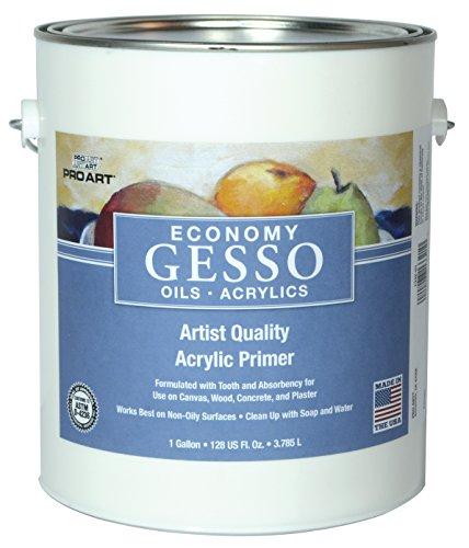 Pro Art Economy White Acrylic Gesso, Gallon