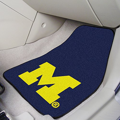 (FANMATS NCAA University of Michigan Wolverines Nylon Face Carpet Car Mat)