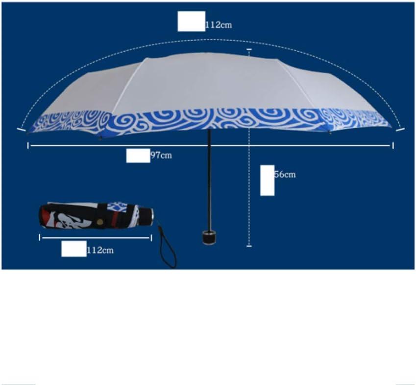 TtKj Folding Umbrella Personal Creative Folding Sunscreen Clear Umbrella 5697112cm