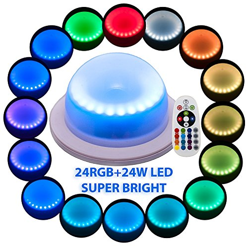 Under Table 16 Colors Change Wedding Decoration Lights, For Parties, Events, Birthdays With 24 RGB+24W LED, Super...