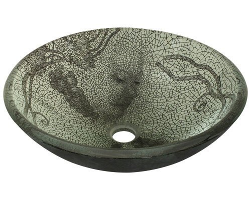 Polaris Sinks P426 Cracked Vineyard Glass Vessel Bathroom Sink by Polaris Sinks by Polaris Sinks