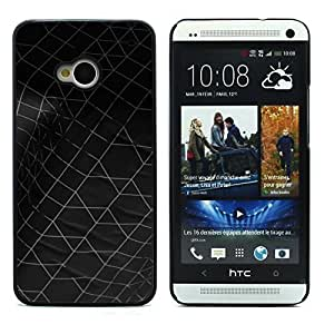 Graphic4You DARK WEB TEXTURE PATTERN HARD CASE COVER FOR HTC One (M7)