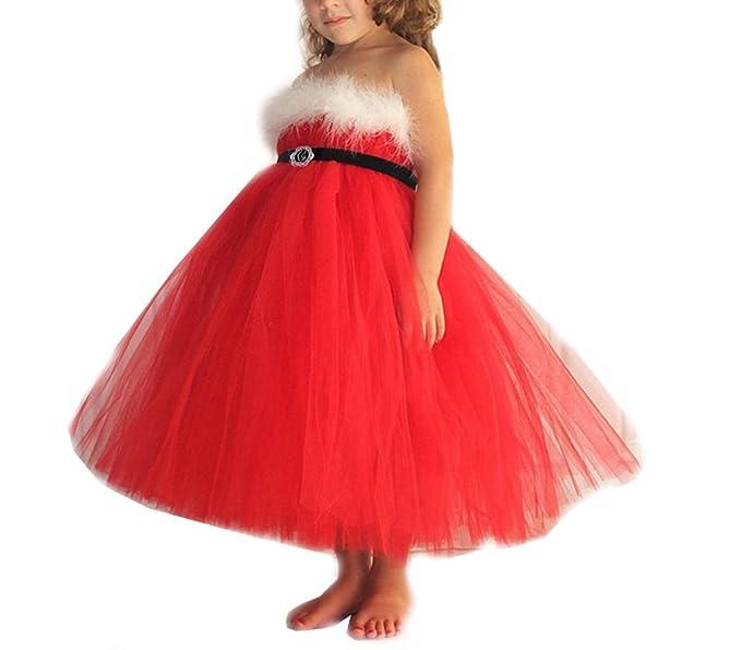 5635d8fc31a21 Black Friday Cadeau fête Noël Magike Robe Noël Enfant Bébé Fille pour  Nouveau