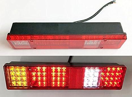 2x cola trasera 6 funciones, luces LED 12 V para camión trailer chasis volquete autocaravana: Amazon.es: Coche y moto