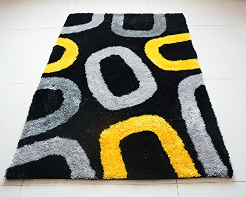 All New Contemporary Oval Design Shag Rugs by Rug Deal Plus (4' x 6', -