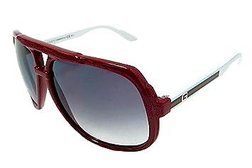 d6832d855390e GUCCI 1622 S 1622S Red White HD8 LF Retro Aviator Sunglasses 63mm ...