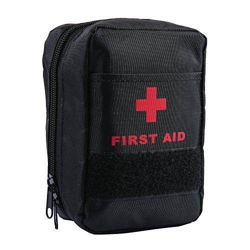 AOLVO Botiquin Primeros Auxilios, Botiquin de Urgencias de Supervivencia con 44 Artículos, Adecuado para El Coche, Hogar,...