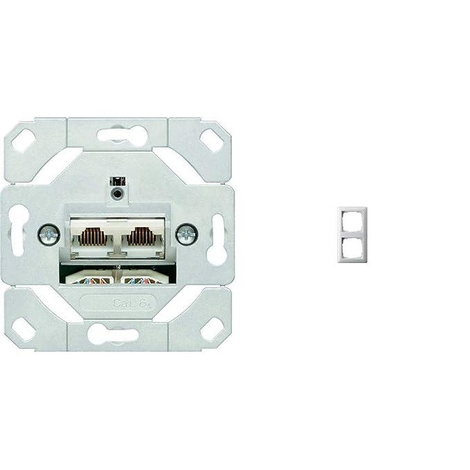 Gira Netzwerkdose 2-fach Cat.6A IEEE 802.3an Einsatz 245200