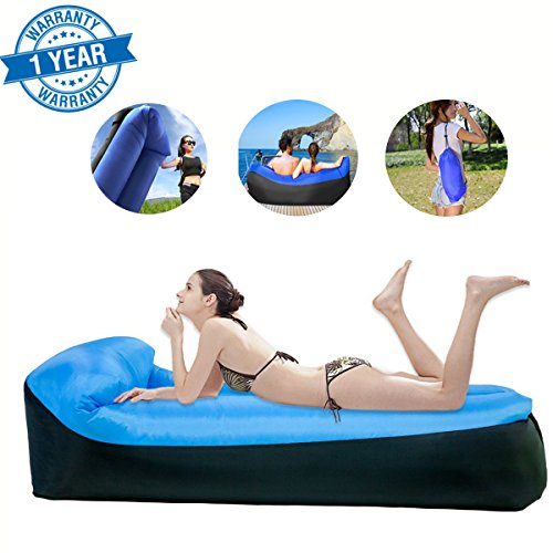 Lounger Air Sofa Air Lounger Air Couch,Cozy Waterprove Anti Air Leak Air Inflatable Lounger,Ideal for Camping Music Festival Beach and All Outdoor Activities ()