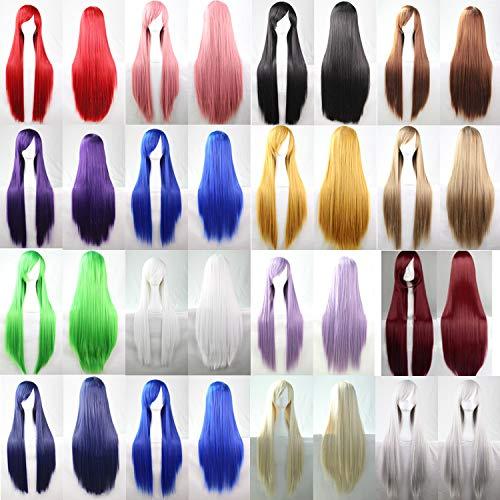 CXQ lange glatte Haare Perücke Anime COS Perücke Farbe lange glatte Haare Cosplay Perücke, 80cm Silberweiß B07MMQ79FW Perücken & Haarteile für Erwachsene Elegant und feierlich | 2019