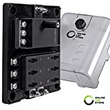 #9: 6-Circuit Blade Fuse Block With Thumbscrew Cover [LED Indicator] [Negative Ground Connections] [Dual Positive Connections] [Stainless Steel Corrosion Protection] ATC/ATO/ATF Max. 180A Fuse Box