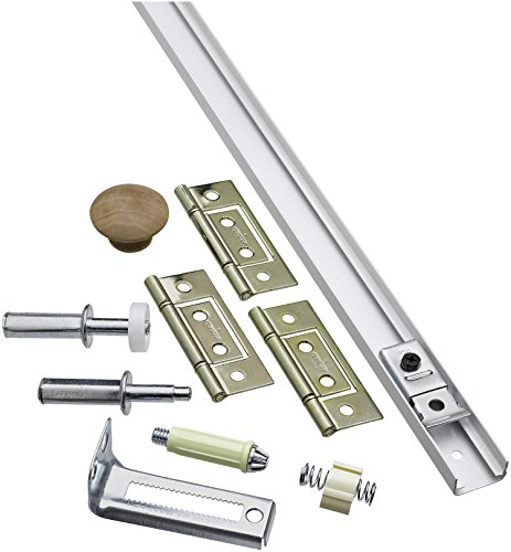 National Hardware N343-715 391S Folding Door Hardware Set in White (Door Bi Set Fold)
