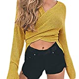 Pandaie Women Jacket,Newest Soild Color Knitted Long Sleeve Women Pullovers Sweaters YE