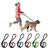 Peak Pooch Dog Rope Leash (Black, 2 Feet)