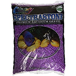 Spectrastone Permaglo Lavender Aquarium Gravel for Freshwater Aquariums, 5-Pound Bag