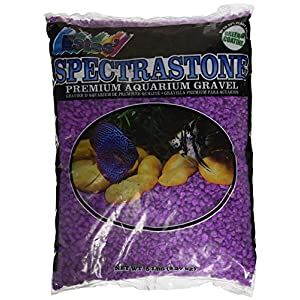 Spectrastone Permaglo Lavender Aquarium Gravel for Freshwater Aquariums, 5-Pound Bag 100