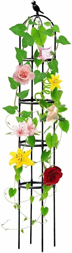NINGFIST 11.8 x 72 inches Plant Garden Rrellis Arch for Climbing Plants Outdoor and Potted Plants Trellis or Obelisk Trellis Plants Support for Indoor Outdoor Plants with Heavy Duty Plastic