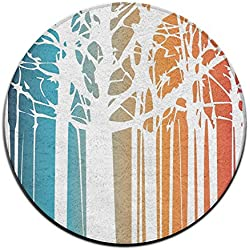 ALIPAPA Home Furnishing Non-slip Magic Colored Forest NonSlip Mats White