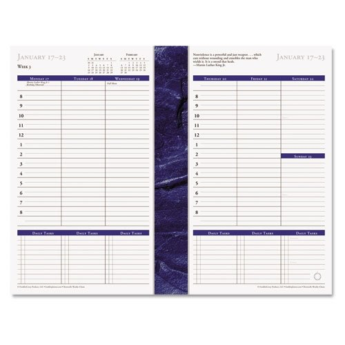 - FRANKLIN COVEY Monticello Dated Weekly/Monthly Planner Refill, 5-1/2 X 8-1/2 Inches, 2015 (FDP3706215)