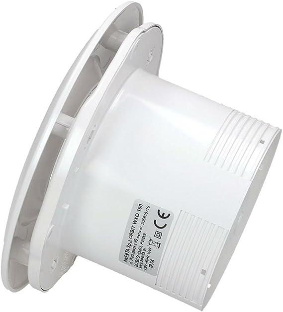 PIR // Bewegungsmelder//Timer//Nachlauf//PIR-SENSOR//Glas front//stark 115 m/³//h//sehr leise 31 dB//energiesparend 8 W//Kugellager//EU Markenqualit/ät seit 1947 Ventilator//L/üfter//Badl/üfter//E-100 SENSOR