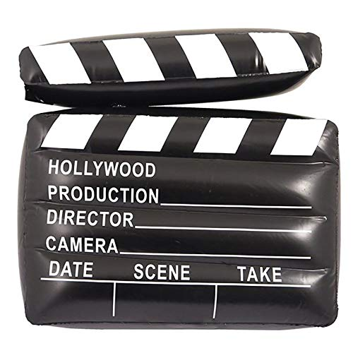 MA ONLINE Blow Up 43cm Inflatable Clapper Board Unisex Props Stag Party Supply Accessory]()