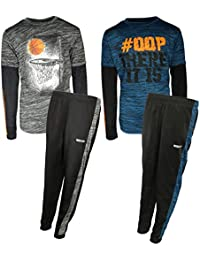 Boys (4-Piece) Performance T-Shirt Active Pant Sets (2 Full Sets)