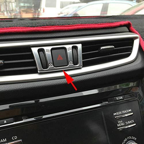 Murano Sport (Exterior Parts Chrome Car Dashboard Ac Air Condition Switch Adjust Cover Trim For Nissan X-Trail Rogue Sport Murano Qashqai T32 J11 Accessories)