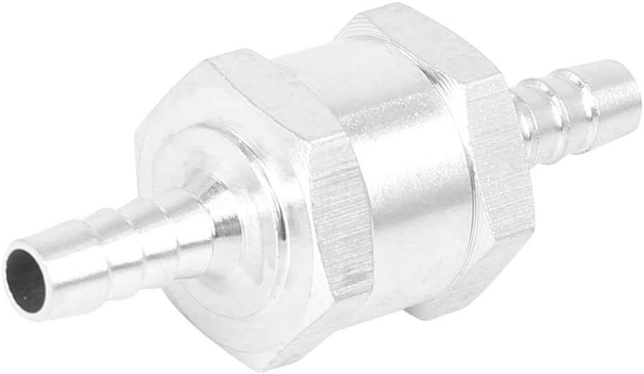 X AUTOHAUX 6mm 1//4inch Non Return One Way Check Valve with Clamps for Car Boat