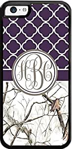 Dark Purle White Tree Country Girl Camo Monogram Case For ipod touch4