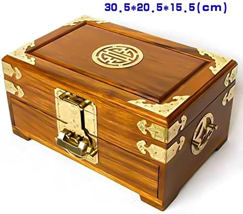 GFEI Rosewood caja de joyeria, gran retro chino regalos de boda ...