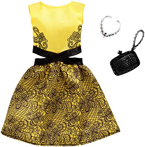 Barbie Complete Looks Yellow and Black Dress Fashion -