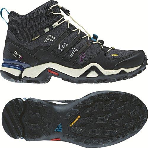 Adidas Outdoor-Terrex Fast-R Mid Gtx? Schwarz / Dunkelgrau / Power Red Sneaker 5 B (m) Solid Grey /Black/ Vivid Teal