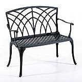 Outsunny 40'' Arch Design Decorative Outdoor Garden Bench - Black