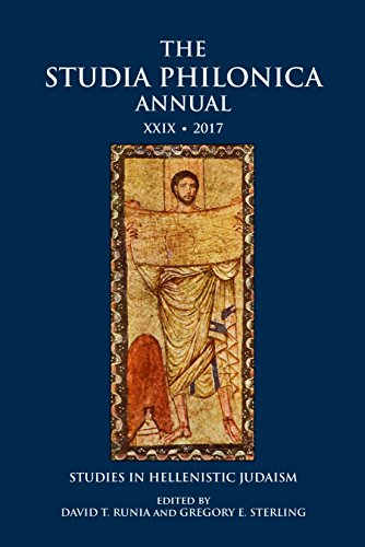 Sterling Annual (The Studia Philonica Annual XXIX, 2017: Studies in Hellenistic Judaism)