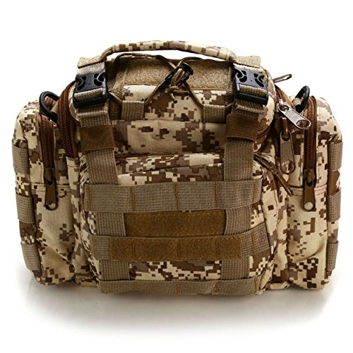 Outdoor Multifunction Lures Fishing Tackle Storage Bags Square Camouflage Backpack Bag Classic Chest Pack by OutdoorCrazyShopping