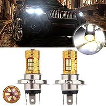 CCIYU 2 Pack Xenon White H4 9003 Cree LED 54 SMD Motorcycle Car Bike Headlight Lamp 12V