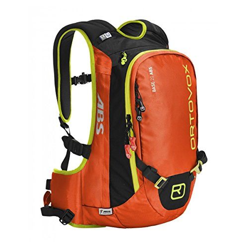 - Ortovox Base 20 ABS Backpack Complete Set with M.A.S.S Airbag for Snow Avalanche, S/M, Crazy Orange
