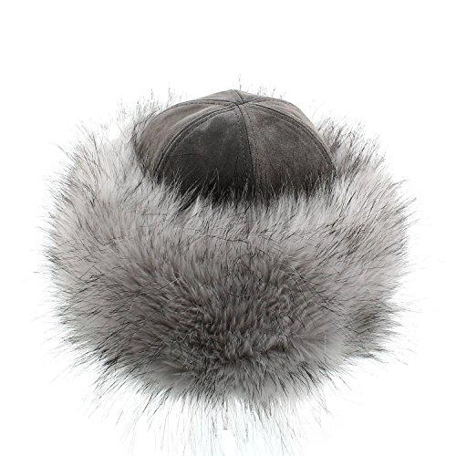 votrechapeau - Toque Cuir - Chapeau en fausse fourrure - Olgatha - Femme