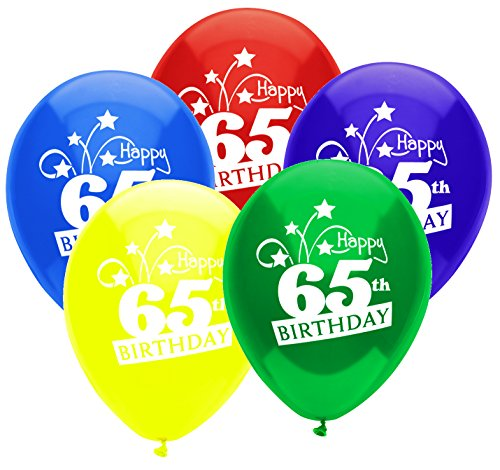 PartyMate 24733 Printed Latex Balloons, Standard Assortment (Assortment Balloons Standard Latex)